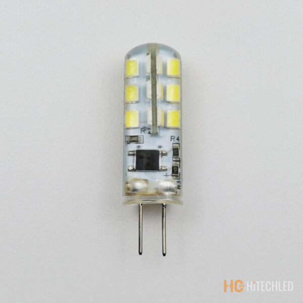 g4 2w led bulb 220v 2835 24d tricolor silicone 6