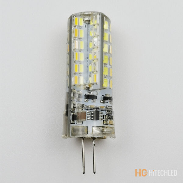 g4 7w led bulb 220v 3014 96d tricolor silicone 6