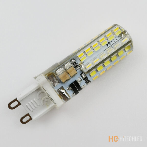 g9 7w led bulb 220v 3014 96d tricolor silicone 3