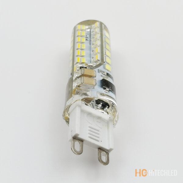 g9 7w led bulb 220v 3014 96d tricolor silicone 4
